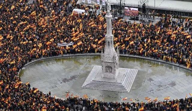 Demostración de fuerza de la derecha española contra Pedro Sánchez