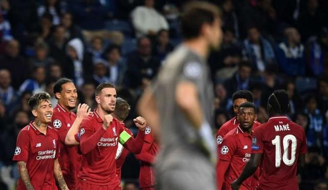 Liverpool goleó al Porto y será el rival del Barcelona en semifinales