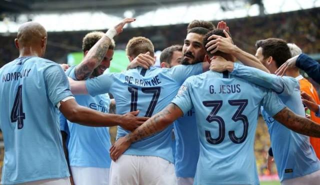 City arrolló al Watford 6-0 y conquistó el histórico triplete en Inglaterra