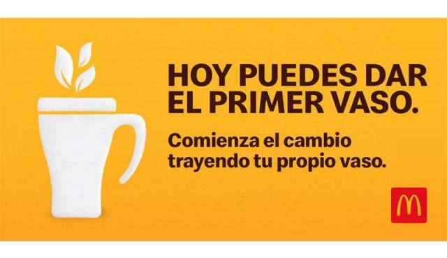 #TraeTuTaza de McDonald's