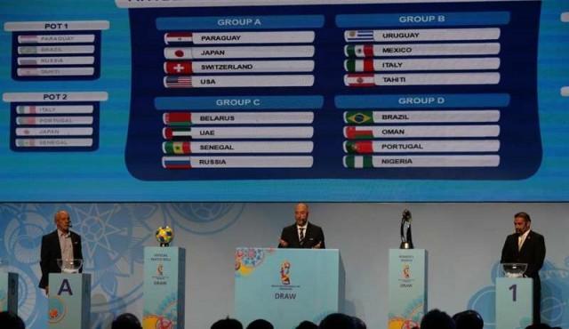 Uruguay al Grupo B en Mundial de fútbol playa, con México, Italia y Tahití