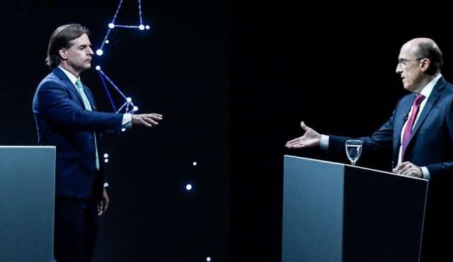 Los cruces entre Lacalle y Martínez durante el debate