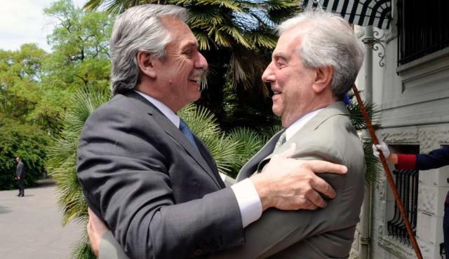 """Fernández: """"valoro mucho lo que ha pasado en Uruguay en estos últimos años"""""""