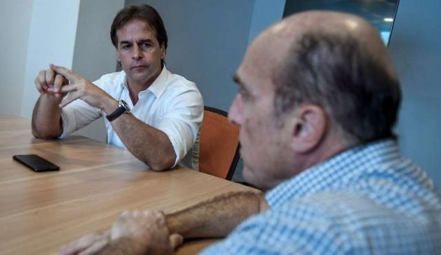 Lacalle Pou se reunió con Daniel Martínez