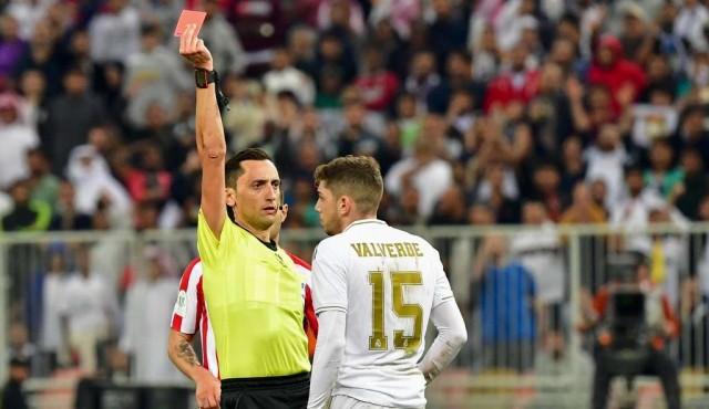 Fede Valverde sancionado con un partido por su expulsión en la Supercopa