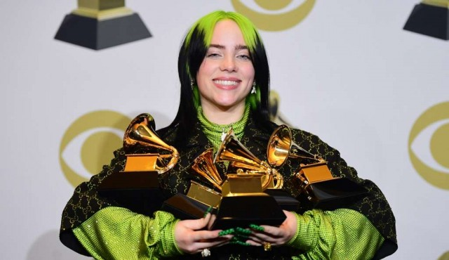 Billie Eilish arrasó en los Grammy