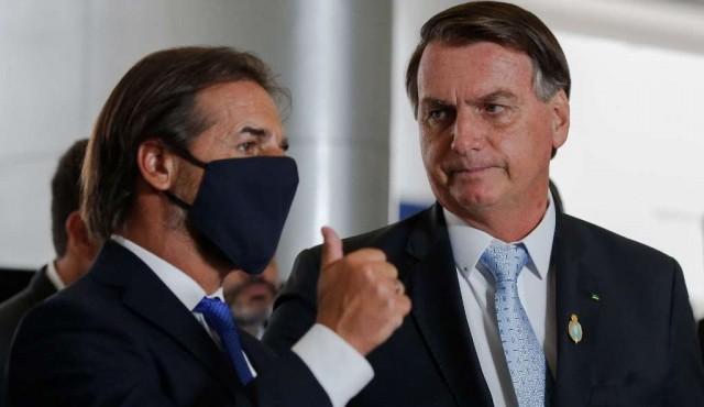 Lacalle Pou y Bolsonaro hablaron de flexibilizar el Mercosur