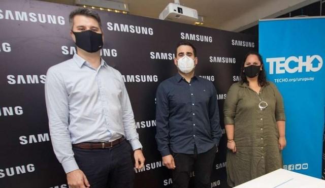 Samsung y TECHO se unen una vez más en búsqueda de seguir mejorando la situación de los asentamientos en Uruguay