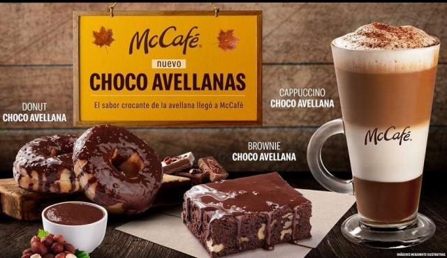 El sabor crocante de la avellana llegó a McCafé