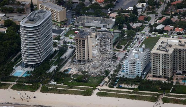 Buscan a tres uruguayos que residían en edificio colapsado en Miami