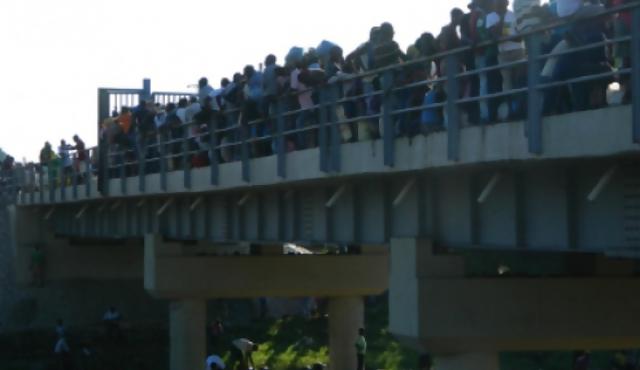 Estampida haitiana sobre el río Masacre
