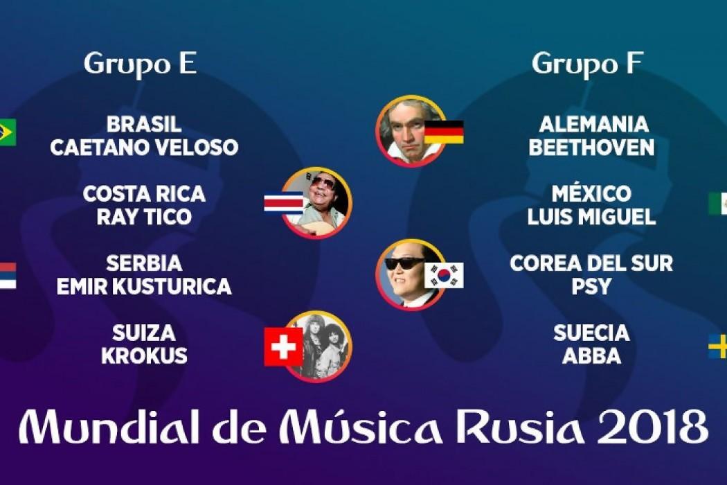 Mundial de Música Rusia 2018 - Grupos E, F, G y H — DelSol | Del Sol 99.5 en el Mundial Rusia 2018