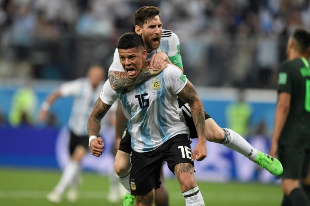 Rojo y Messi gritan el gol de la clasificación argentina — Img | Del Sol 99.5 en el Mundial Rusia 2018