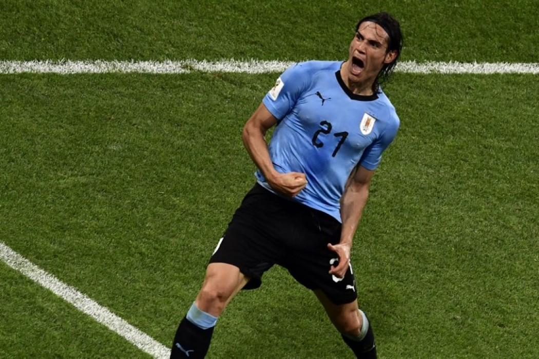 Cavani hizo dos goles y metió a Uruguay en cuartos de final — Foto del dia | Del Sol 99.5 en el Mundial Rusia 2018