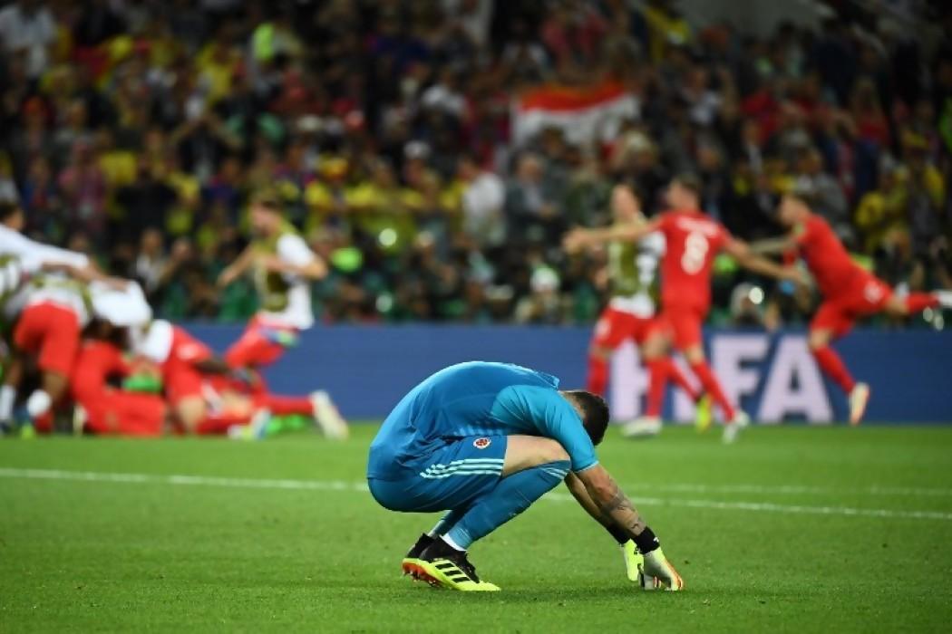 David Ospina se lamenta por la derrota ante Inglaterra — Img | Del Sol 99.5 en el Mundial Rusia 2018
