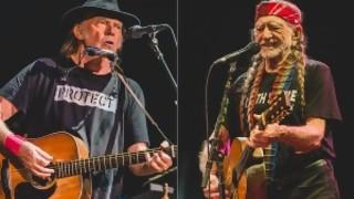 Tomando mate con Neil Young y fumando uno con Willie Nelson