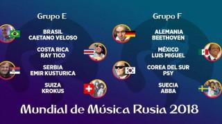 Mundial de Música Rusia 2018 - Grupos E, F, G y H - Versus - DelSol 99.5 FM