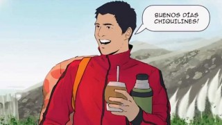 Cavani, Godín, Suárez y Muslera enseñan a entrenar desde un comic - Gastón Gioscia - DelSol 99.5 FM
