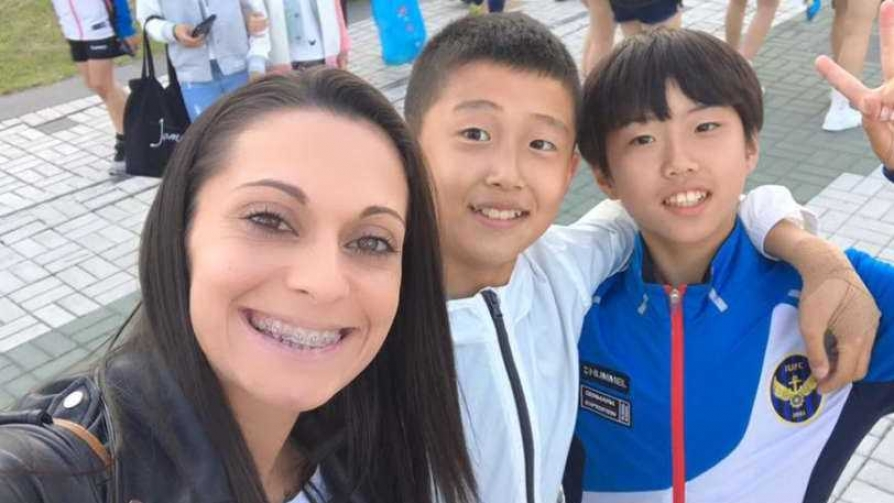 Vanesa Britos desde Corea - Entrevistas - Locos x el Fútbol   DelSol 99.5 FM