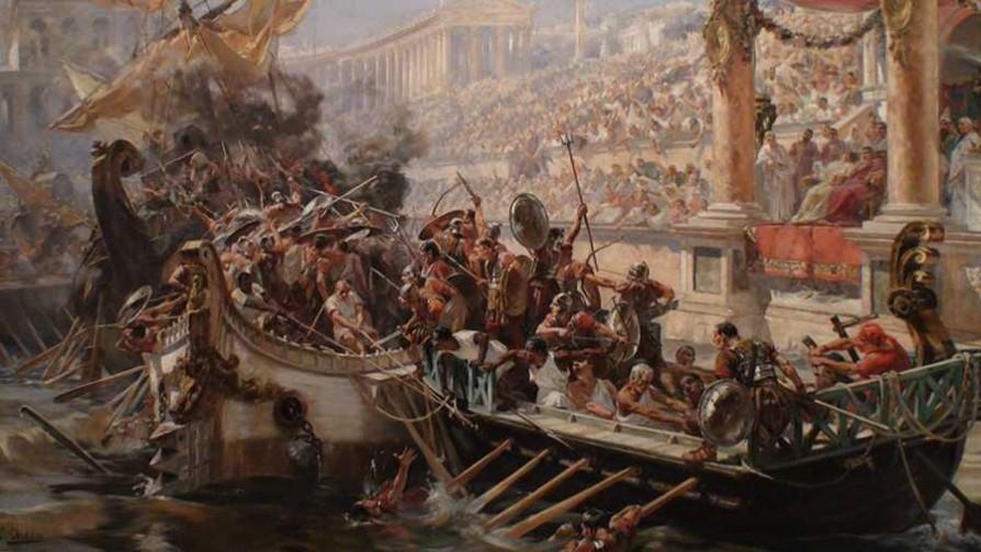 Las naumaquias, espectáculos romanos realistas y mortales - Segmento dispositivo - La Venganza sera terrible | DelSol 99.5 FM