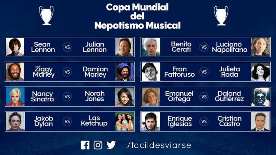 Copa Mundial del Nepotismo Musical  - Versus - Facil Desviarse | DelSol 99.5 FM