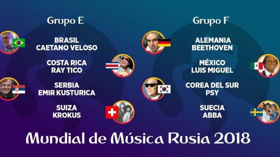 Mundial de Música Rusia 2018 - Grupos E, F, G y H - Versus - Facil Desviarse | DelSol 99.5 FM