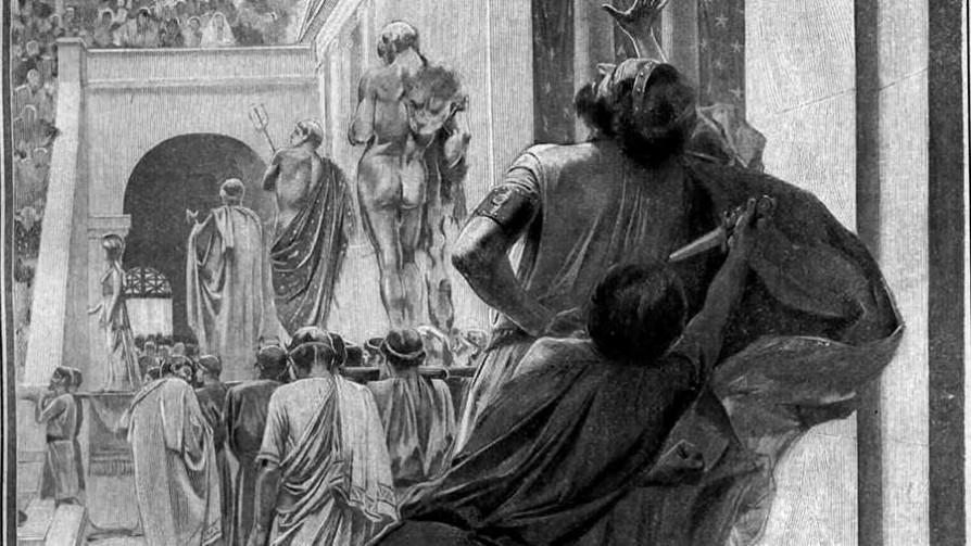 Filipo de Macedonia y su guardaespaldas Pausanias - Segmento dispositivo - La Venganza sera terrible | DelSol 99.5 FM